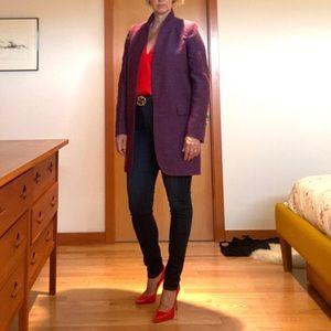 Stella McCartney Purple Slub 3/4 Jacket